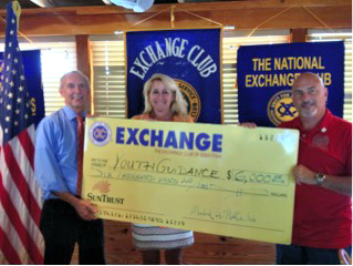 Doug Borrie, Executive Director of Youth Guidance, Tricia Maestri, Public Relations Coordinator of Youth Guidance, and Michael Natale, President of Exchange Club of Sebastian