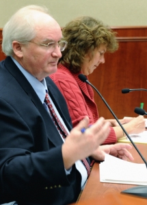 Pension consultant Rocky Joyner and Finance Director Cindy Lawson
