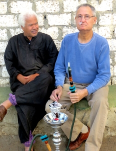 Hamdy and Milt smoking sheesha