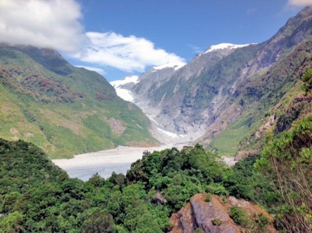 Franz Joseph Glacier, South Island New Zealand - Photo by John Maher, Port Smith, NH- Vero Beach, FL