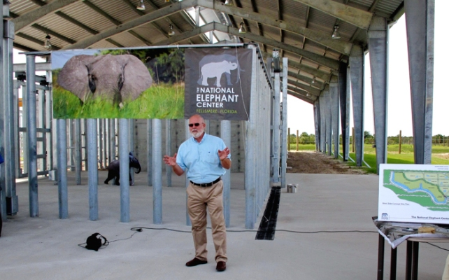 Executive Director, John Lenhardt, explains how the elephants will be received and transitioned to their permanent habitat.