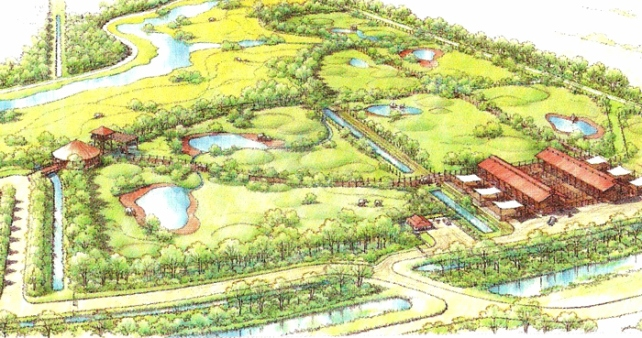 When complete, the National Elephant Center will span 225 acres northwest of downtown Fellsmere, accommodating up to 37 elephants.