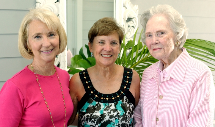 Robyn Williams with Becky Allen and Alma Lee Loy