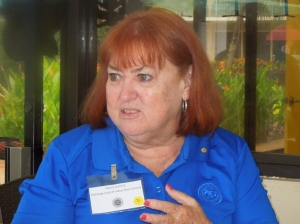 Exchange Club of Indian River Foundation's Paint to Prevent Child Abuse event is chaired by Nancy Gollnick.