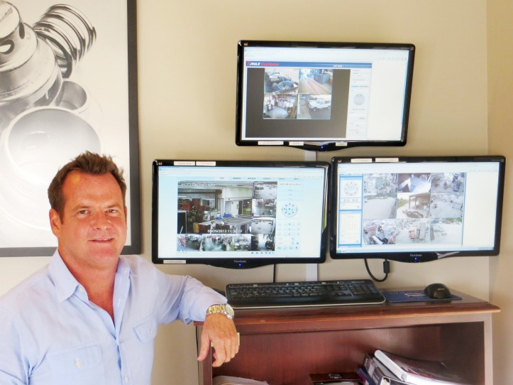 Tim Girard, president of Girard Equipment, monitors his locations in Gifford, Fort Pierce and Linden, New Jersey.