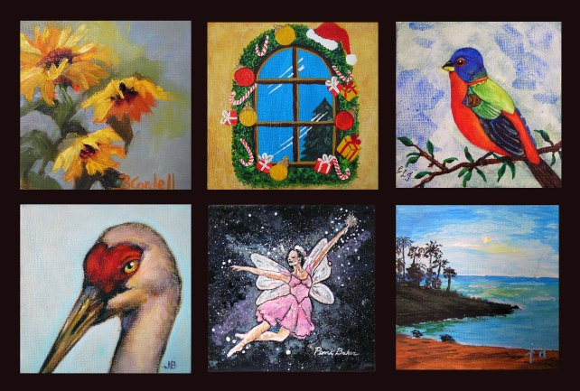 Framable works of art available at Sebastian River Art Club