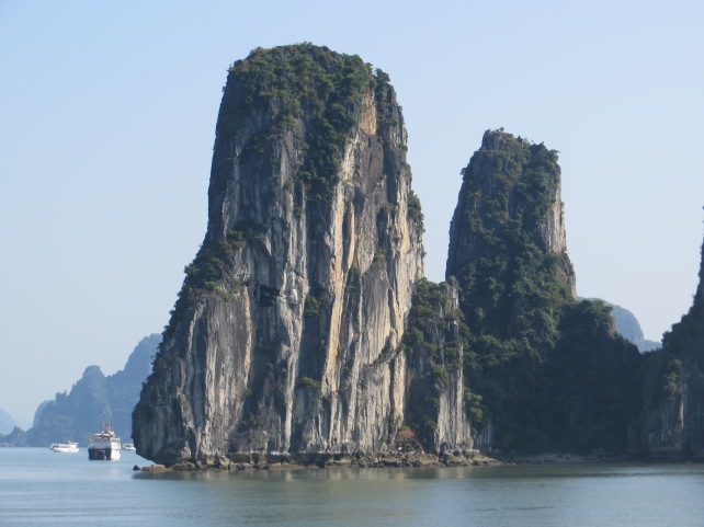 Magnificent limestone formations give Halong Bay its well-earned reputation as a natural wonder of the world