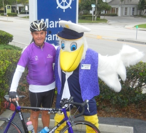 An avid cyclist and rollerblader, Penney has used his avocations as a way of raising money to help local non-profits.