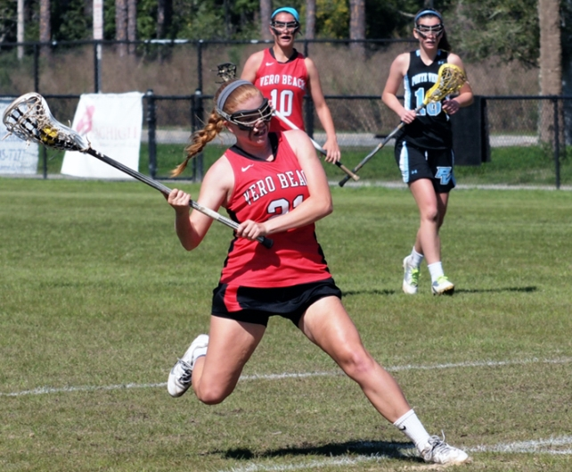 The Vero Beach High School girls lacrosse team continues to dominate its Florida rivals.  Roscoe Bell/Bell Photography