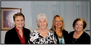 Florida Department of Education Outstanding Volunteer: L to R:  Dr. Fran Adams, Superintendent; District & State Senior Outstanding Volunteer, Berdyne Williams; Sue DiDomizio, Assistant Principal, Citrus Elementary; and Carol Johnson, School Board Chairman.