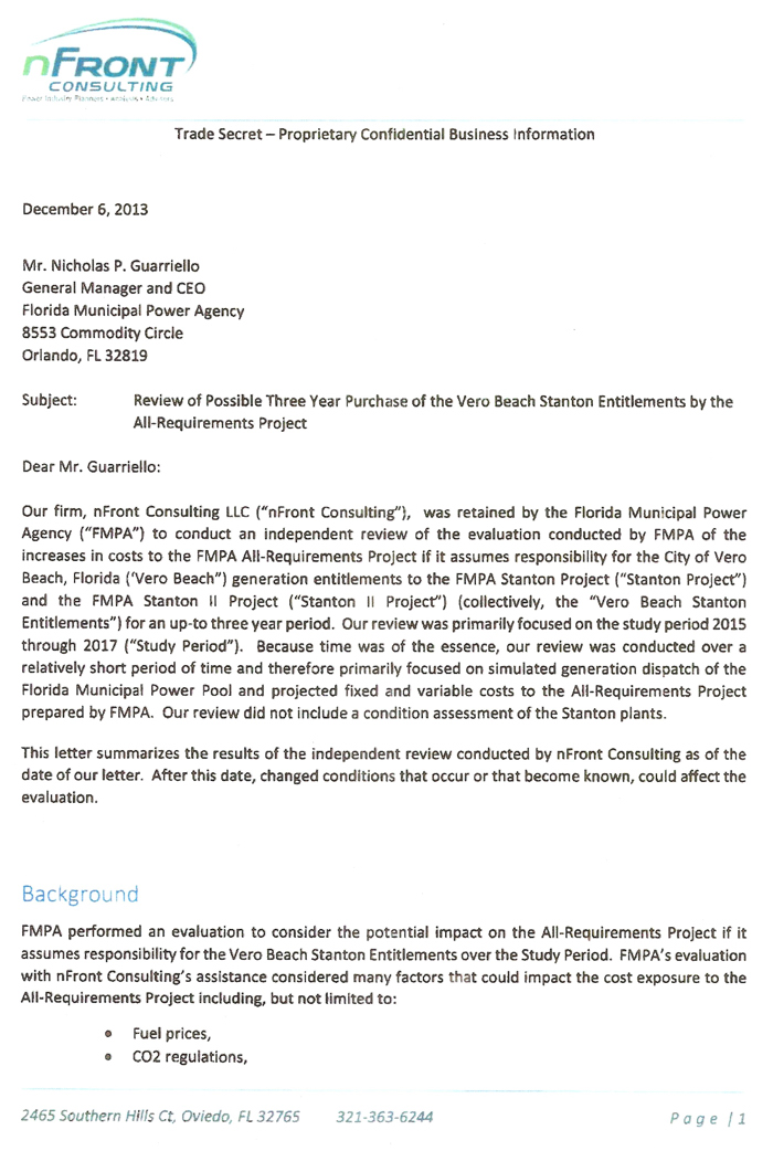 turner receives response from fmpa to public records