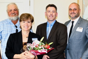 2014 Impact 100 Grant Winners (L – R) Joel Bray, Shining Light Garden Foundation; Edie Widder, ORCA; Michael Kelley, Florida Institute of Technology, Scott Center for Autism; and Michael Naffziger, Indian River Charter High School.