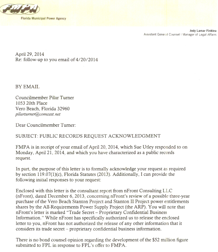 Turner receives response from fmpa to public records request turner letter 1 spiritdancerdesigns