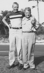 Jim Thompson as a teenager and Dad J.A. Thompson