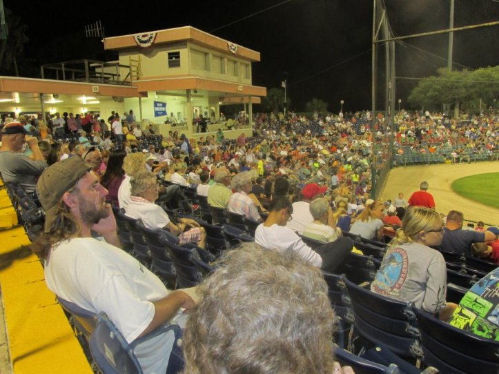 A crowd reminiscent of major league spring training days past enjoyed Jackie Robinson Day