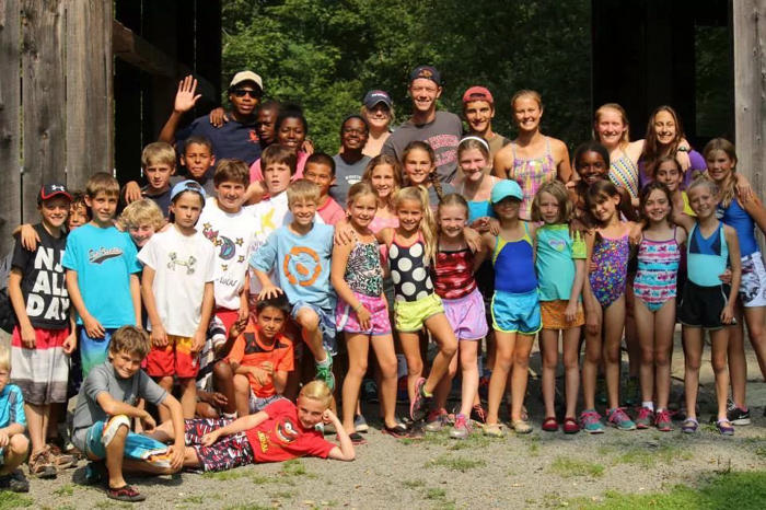 Marquise McGriff, back row left, spent part of his summer in the mountains as a junior counselor at Susquehannock Camps.  McGriff is a VBHS senior and a student at Dasie Hope.