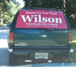 Wilson Campaign Sign