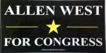 Howle's signes bear a resemblance to former Congressman Allen West's signs.  West is another Tea Party favorite.