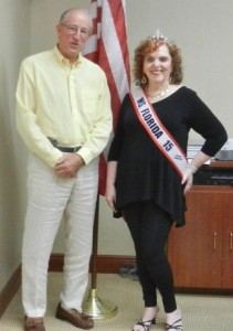 Julie Lendon Stone with Vero Beach Mayor Dick Winger