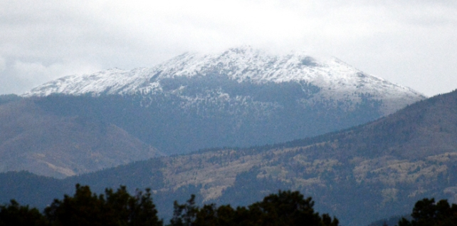 Fist snow in the Sange de Cristo Mountains