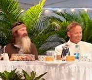 Phil Robertson and John Bona together at the Vero Beach Prayer Breakfast.