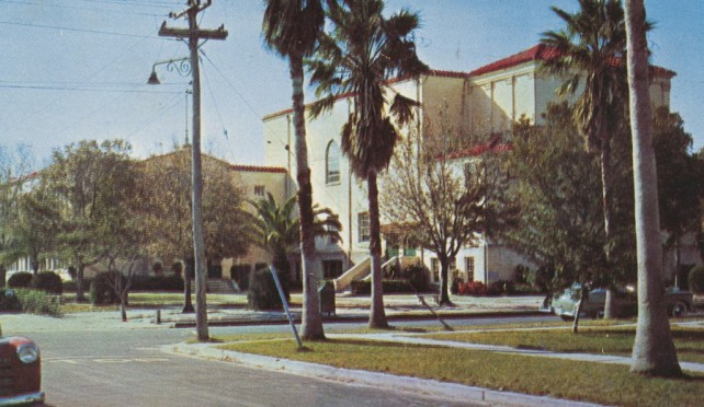Old Vero Beach High School on 19th Street, site of Freshman Learning Center today.