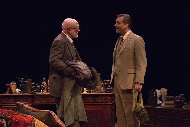 83-year old Freud (State Brady) meets C. S. Lewis (David Schmittou).