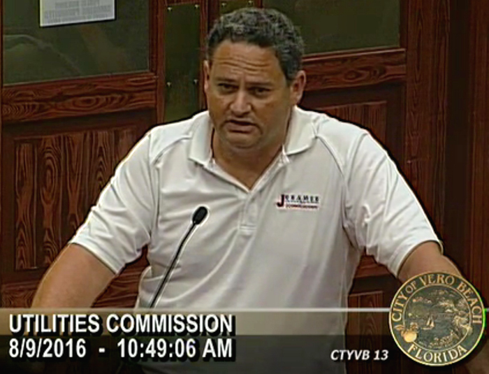Despite assurances from City Attorney Wayne Comment that Mayor Jay Kramer's appearing before the Utilities Commission wearing a shirt bearing a campaign message was within the law, Laura Moss continues to press the issue. Is Moss getting her legal education at the expense of the taxpayer of Vero Beach>