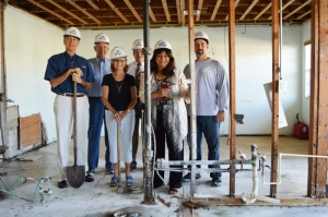 Jim Kerns, Claude and Pat Hessee, Jim Schorner and Lalita Janke with Brego Construction Corp. Owner Pablo Bregolat